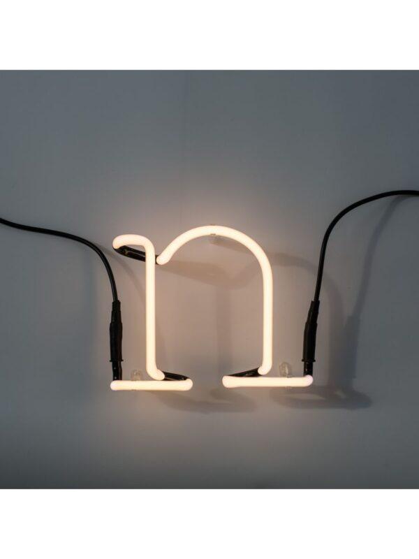 Lâmpada de parede de arte néon - letra N branco Seletti Selab