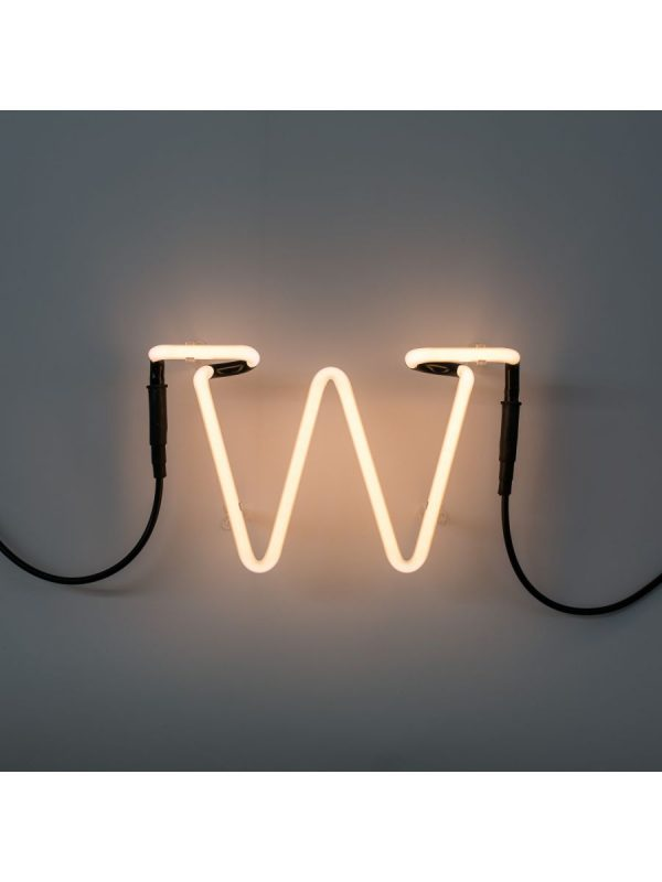 ネオンアートウォールランプ - 文字WホワイトSeletti Selab