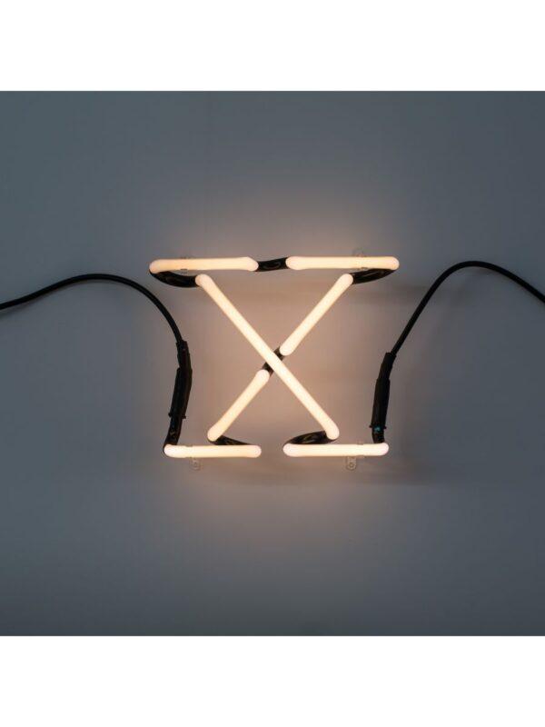 Applique Neon Art - Lettera X Bianco Seletti Selab
