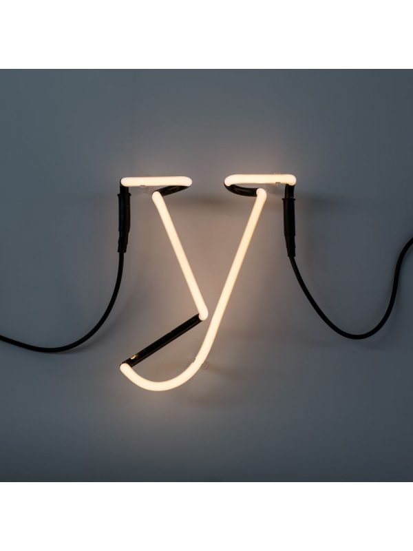 Neon Art Wall Lamp - Lèt Y White Seletti Selab