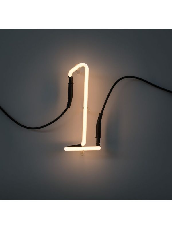 Neon Art Wall Lamp - 1 Number White Seletti Selab
