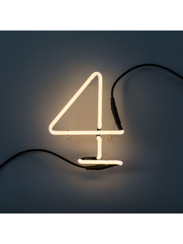 Neon Art Wall Lamp - 4 Nimewo Blan Seletti Selib