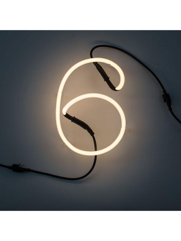 ネオンアートウォールランプ -  6番号ホワイトSeletti Selab