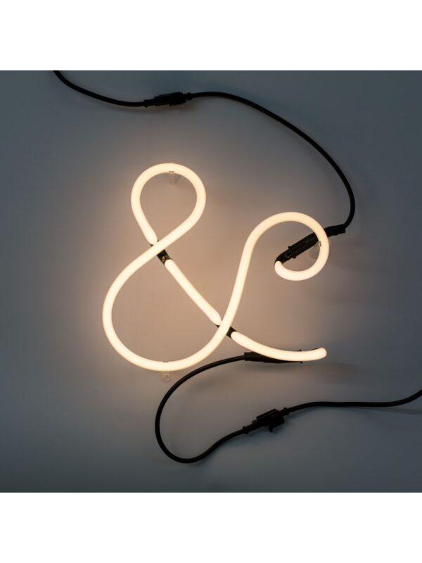 Neon Art Applique - símbolo? Selet branco Seletti