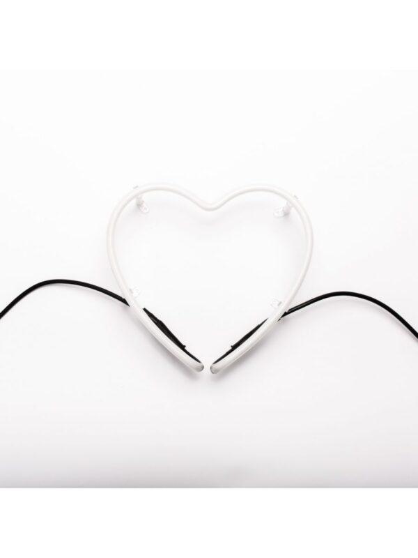 Néon Art Applique - coração branco símbolo Seletti Selab