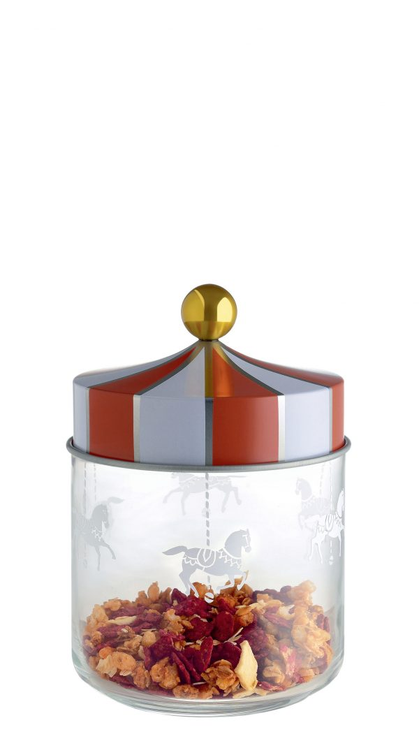 Circus hermetic jar - 75 cl White | Red | Gold | Transparent ALESSI Marcel Wanders 1