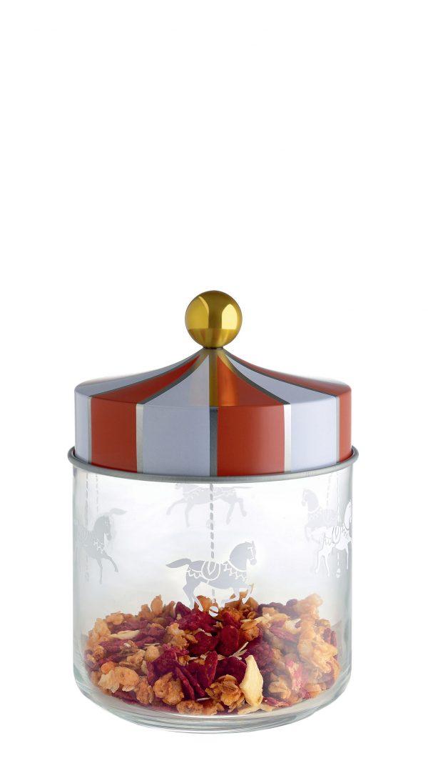 Barattolo ermetico Circus - 75 cl Bianco|Rosso|Oro|Trasparente ALESSI Marcel Wanders 1