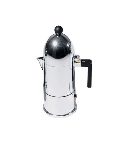 Coffee maker THE DOME Polished aluminum Aldo Rossi ALESSI 1