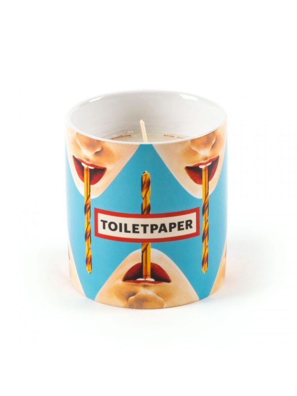 Vela de papel higiénico - Taladro multicolor | Seletti azul claro Maurizio Cattelan | Pierpaolo Ferrari