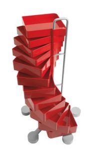 Mobile Drawer Spinny Red B-LINE Studio Joe Colombo