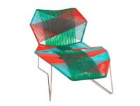Chaise Longue Tropicalia Red | Green Moroso Patricia Urquiola 1