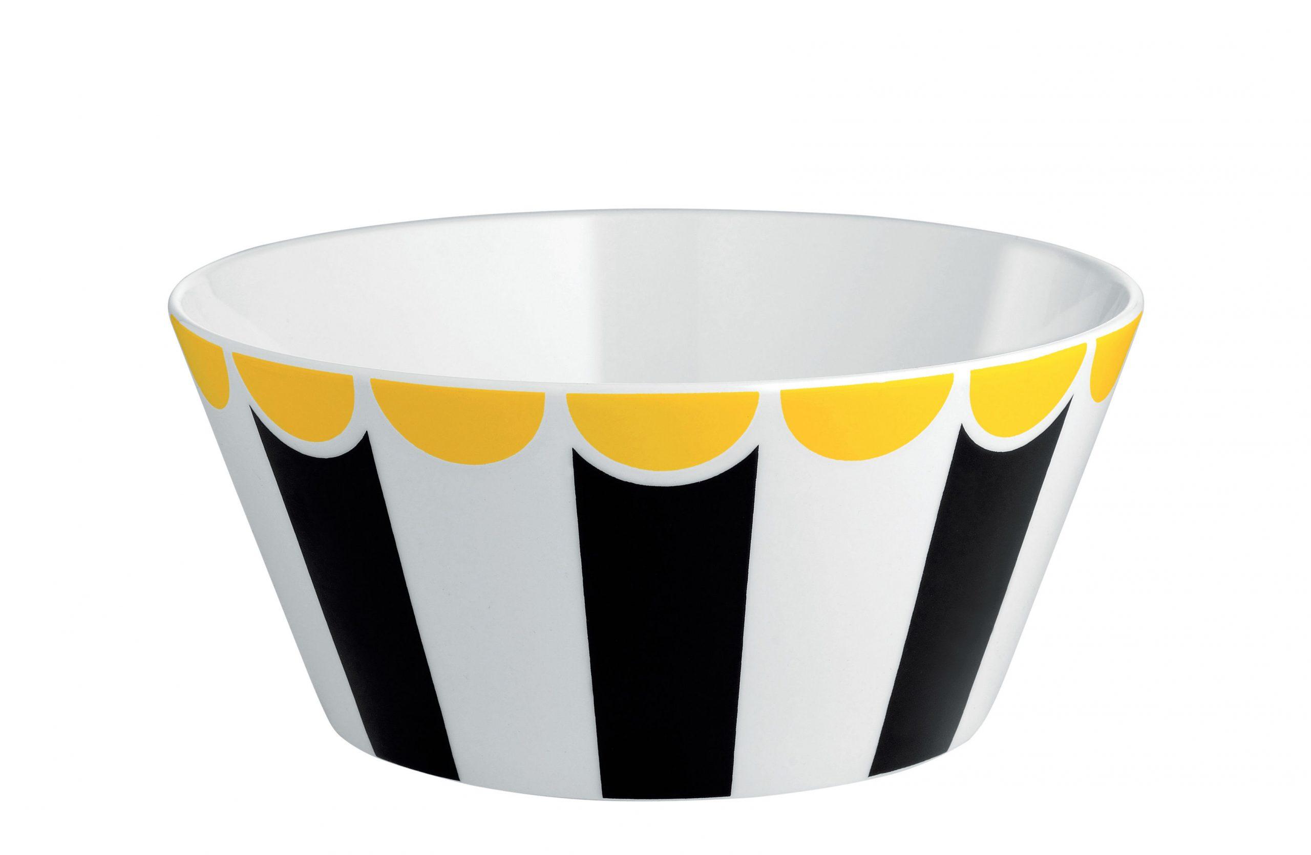 サーカスボウル-Ø16 x H 7 cmホワイト|イエロー|ブラックALESSIマルセルワンダース1