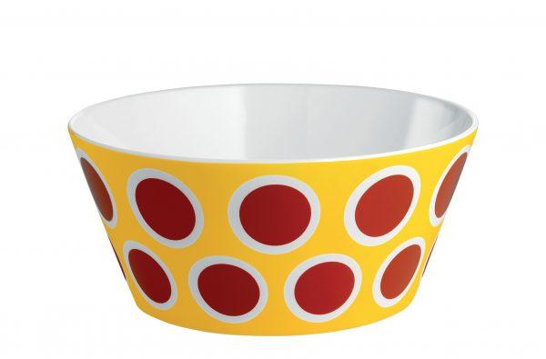 Ciotola Circus - Ø 16 x H 7 cm Bianco Giallo Rosso ALESSI Marcel Wanders 1