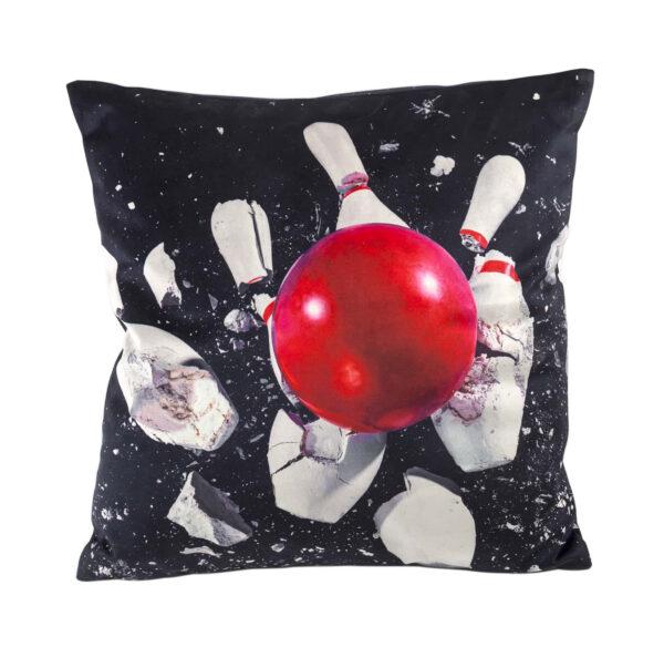 Kousen twalèt - Bowling - 50 x 50 cm multicolor | Nwa Seletti Maurizio Cattelan | Pierpaolo Ferrari