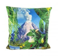 Coussin en papier hygiénique - Volcan - 50 x 50 cm Multicolore Seletti Maurizio Cattelan | Pierpaolo Ferrari