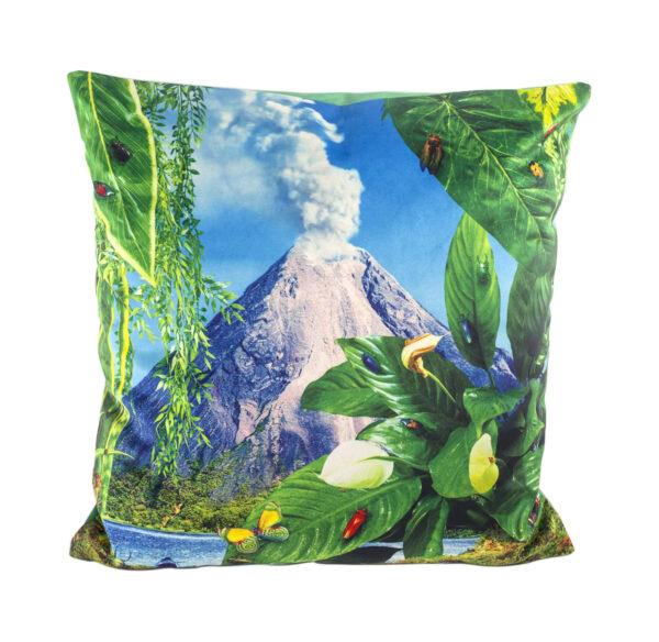 Cojín de papel higiénico - Volcano - 50 x 50 cm Multicolor Seletti Maurizio Cattelan | Pierpaolo Ferrari