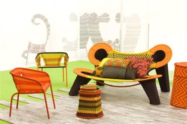 Madame Dakar M'Afrique Sofa Yellow | Orange | Brown Moroso Ayse Birsel | Bibi Seck 2