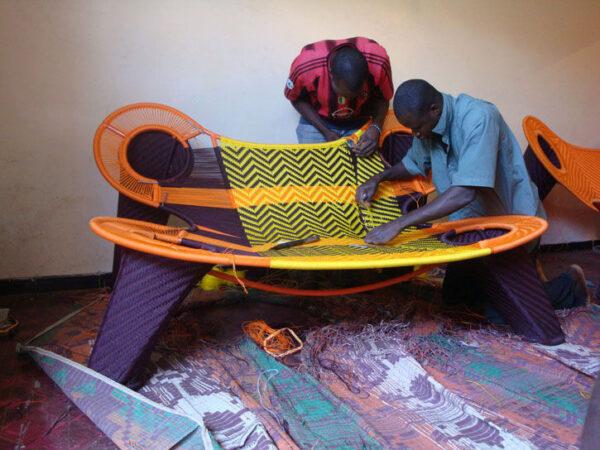 Madame Dakar M'Afrique Sofa Yellow | Orange | Brown Moroso Ayse Birsel | Bibi Seck 3
