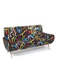 Toiletpaper Sofa - Snakes by Seletti Multicolored | Seletti Black Maurizio Cattelan | Pierpaolo Ferrari