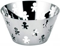 Fruit holder polished stainless ALESSI Girotondo King-Kong 1