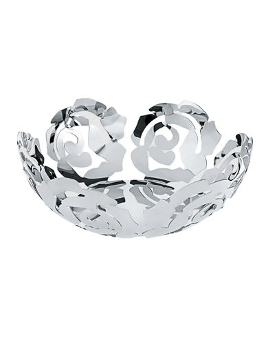 Fruit bowl LA ROSA Polished stainless steel ALESSI Emma Silvestris 1