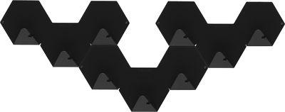 paquete de gancho simple de 3 1 Negro Tolix Bergne