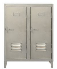 Portes de l'armoire vers le bas 2 acier satiné Tolix Chantal Andriot 1