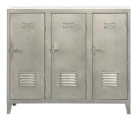 Portes de l'armoire vers le bas 3 acier satiné Tolix Chantal Andriot 1