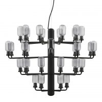 Amp Chandelier Large Suspension - Ø 85 cm Noir | Fumè Normann Copenhagen Simon Legald