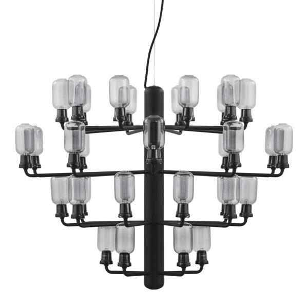 Lampada A Sospensione Amp Chandelier Large - Ø 85 cm Nero|Fumè Normann Copenhagen Simon Legald