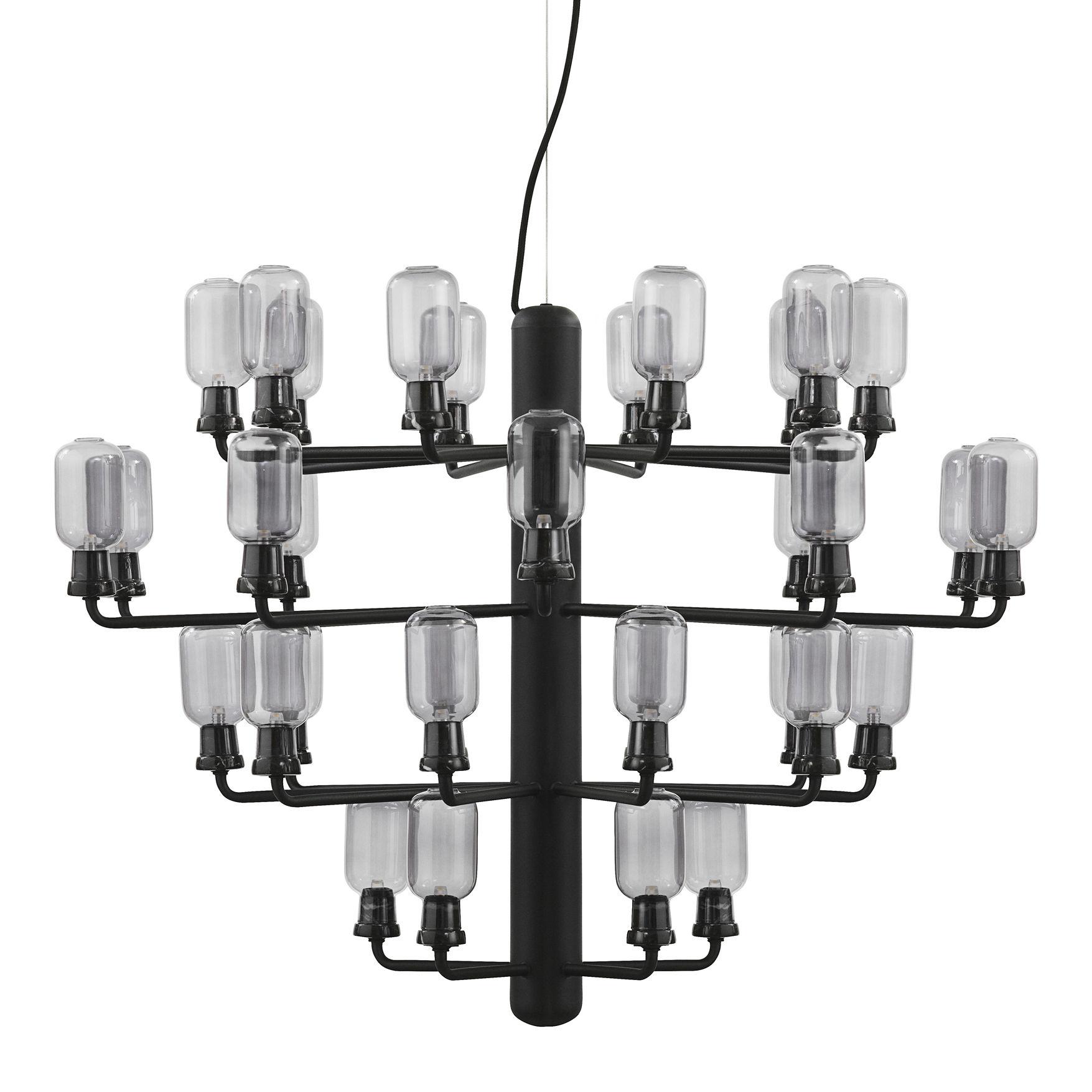 Amp Chandelier Large Suspension Lamp - Ø 85 cm Black   Fumè Normann Copenhagen Simon Legald
