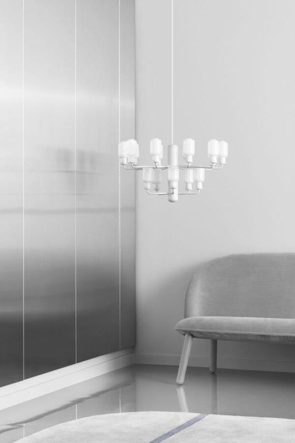 Lampada A Sospensione Amp Chandelier Small - Ø 62 cm Bianco Normann Copenhagen Simon Legald