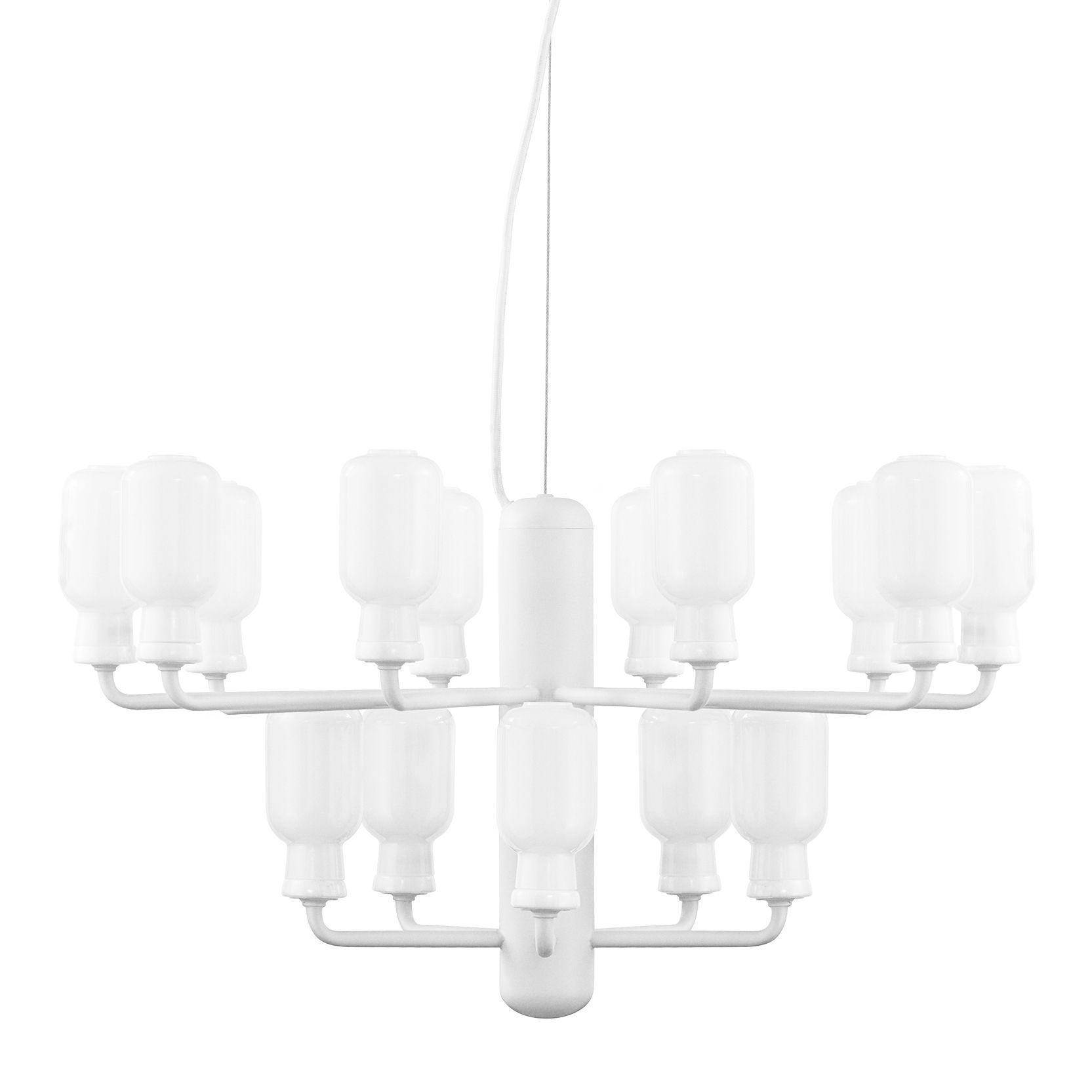 Amp Chandelier Small - Suspension - Ø 62 cm Blanc Normann Copenhagen Simon Legald