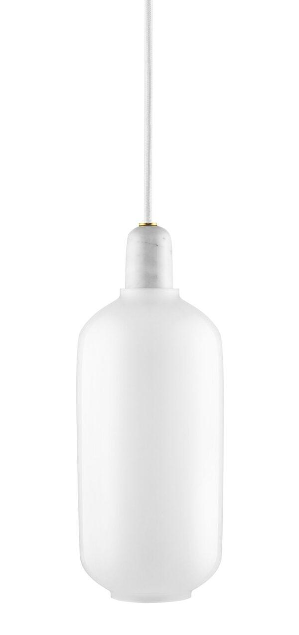 Amp - Lámpara de suspensión grande - Ø 11 x H 26 cm Blanco Normann Copenhagen Simon Legald