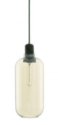 Lampada A Sospensione Amp Large - Ø 11 x H 26 cm Nero|Dorato Normann Copenhagen Simon Legald