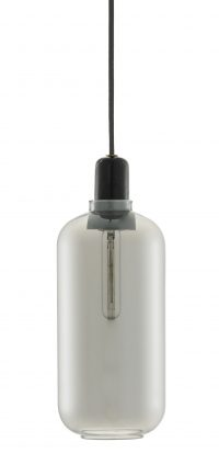 Amp Large Suspension Lamp - Ø 11 x H 26 cm Black | Fumè Normann Copenhagen Simon Legald