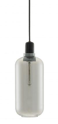 Lampada A Sospensione Amp Large - Ø 11 x H 26 cm Nero|Fumè Normann Copenhagen Simon Legald