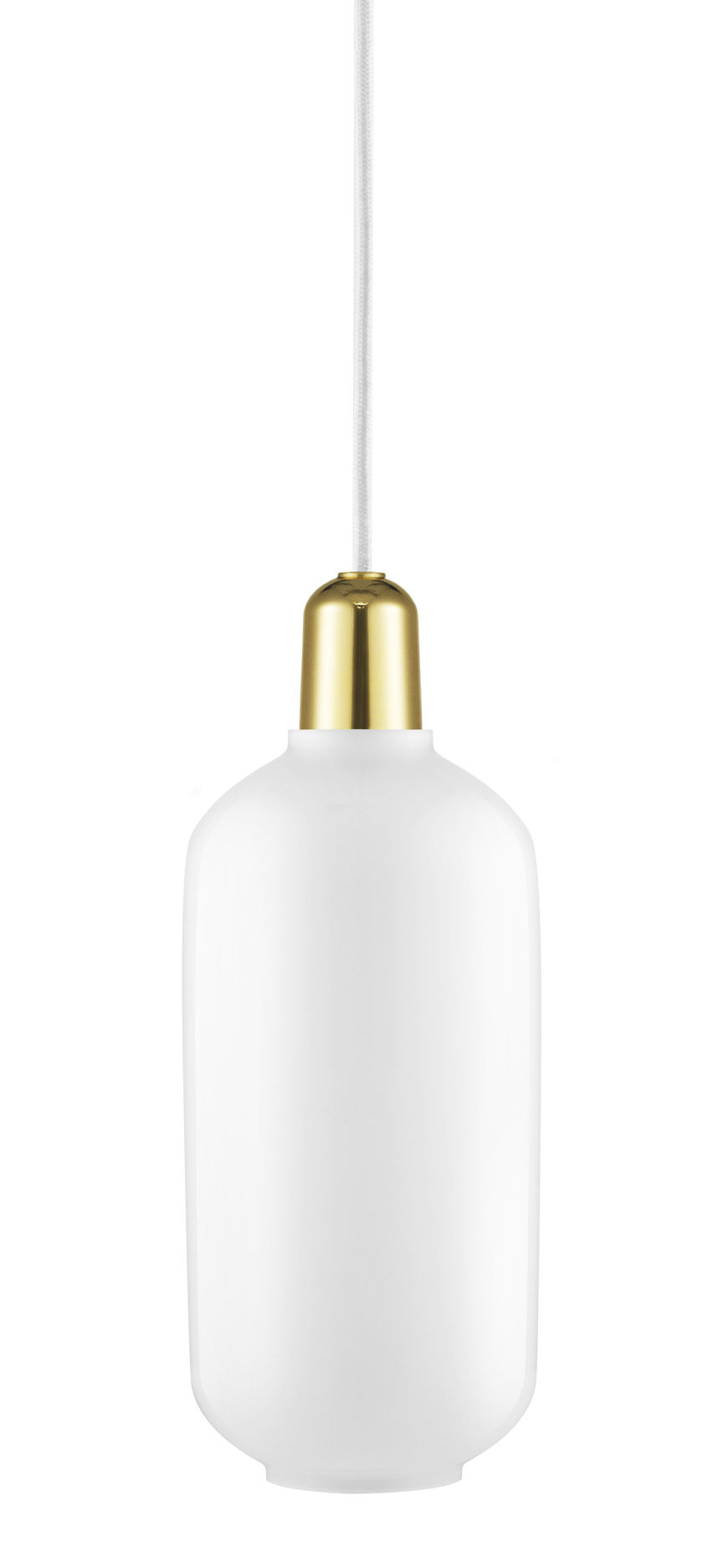 Amp Große Hängelampe - Ø 11,2 x H 26 cm Messing   Weiß Normann Copenhagen Simon Legald