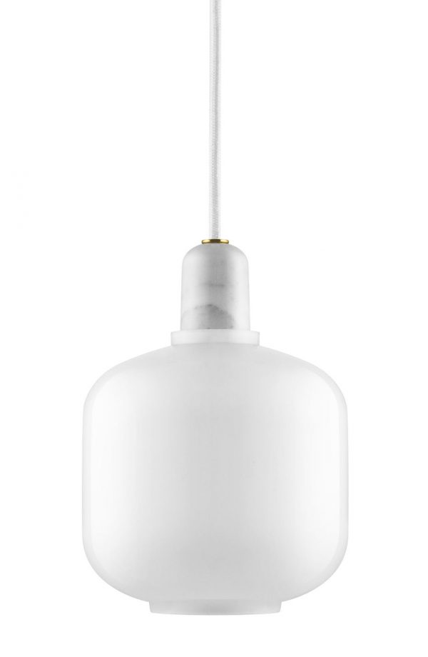 Amp Small Suspension Lamp - Ø 14 x H 17 cm White Normann Copenhagen Simon Legald