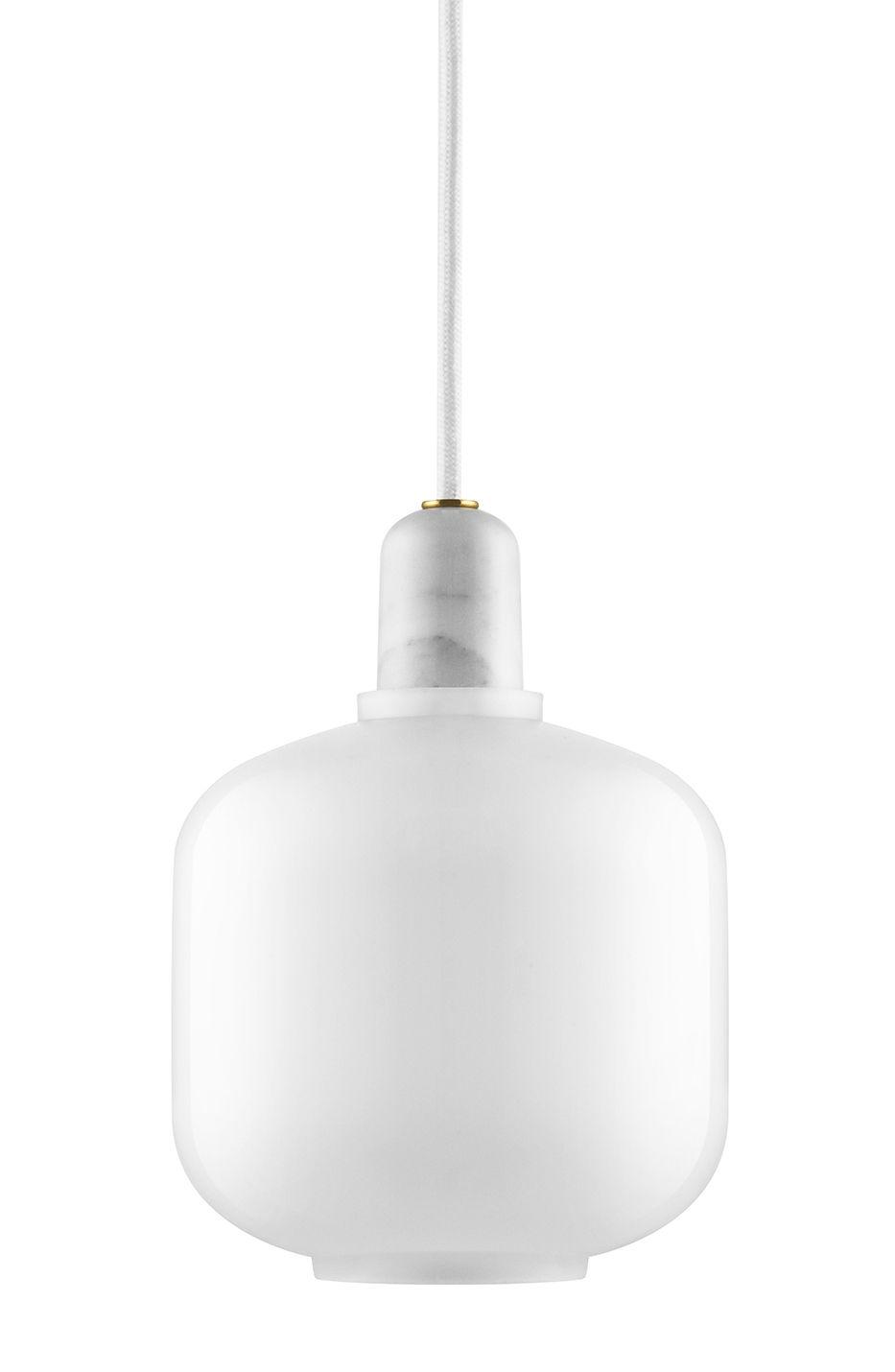 Amp Small - Suspension - Ø 14 x H 17 cm Blanc Normann Copenhagen Simon Legald