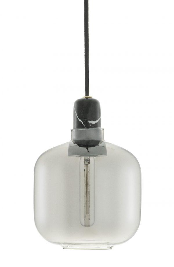 Lampada A Sospensione Amp Small - Ø 14 x H 17 cm Nero Fumè Normann Copenhagen Simon Legald