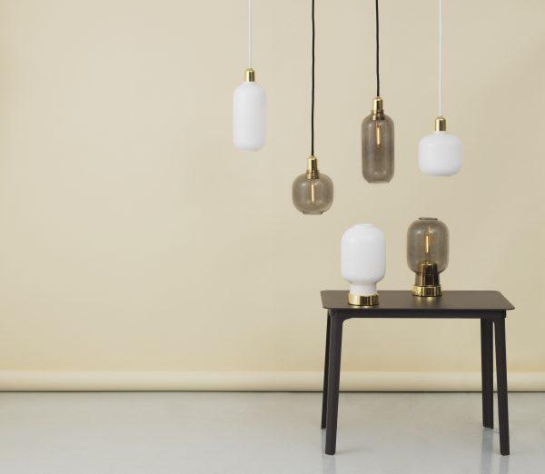 Lampada A Sospensione Amp Small - Ø 14 x H 17 cm Ottone|Grigio fumo Normann Copenhagen Simon Legald