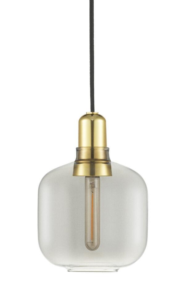 Amp Small - Suspension - Ø 14 x H 17 cm Laiton | Gris fumé Normann Copenhagen Simon Legald