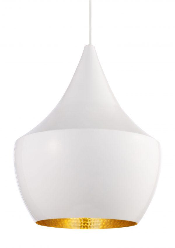 Bata a lâmpada de suspensão branca gorda | Tom Dixon Brass Tom Dixon