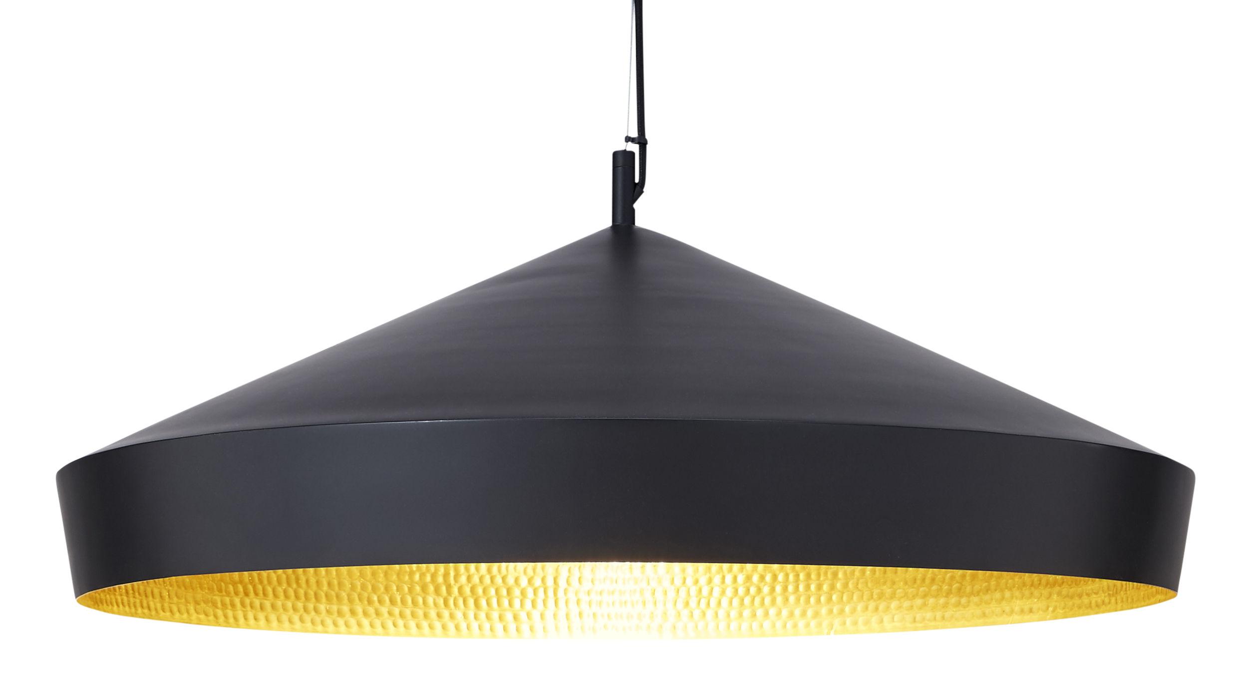 Lámpara de suspensión Beat Flat Ø 60 x H 20 cm Negro | Latón Tom Dixon Tom Dixon