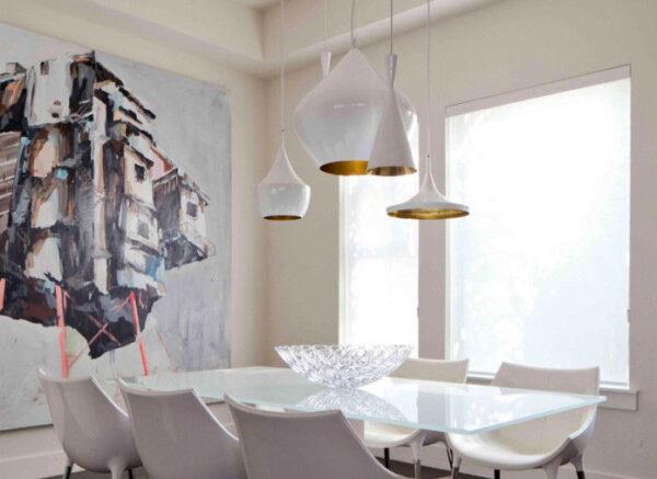 Beat Tall - Lámpara de suspensión blanca | Tom Dixon Latón Tom Dixon