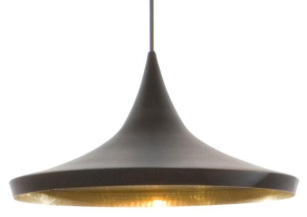 Beat Wide Black Suspension Lamp | Tom Dixon Brass Tom Dixon