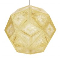 Etch Shade Suspension Lamp - Ø 50 cm Brass Tom Dixon Tom Dixon