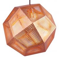Etch Shade Copper Suspension Lâmpada Tom Dixon Tom Dixon