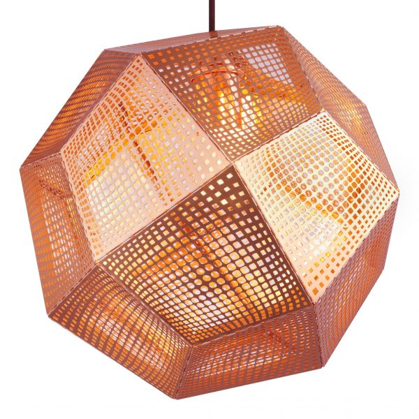 Etch Shade Copper Suspension Lamp Tom Dixon Tom Dixon
